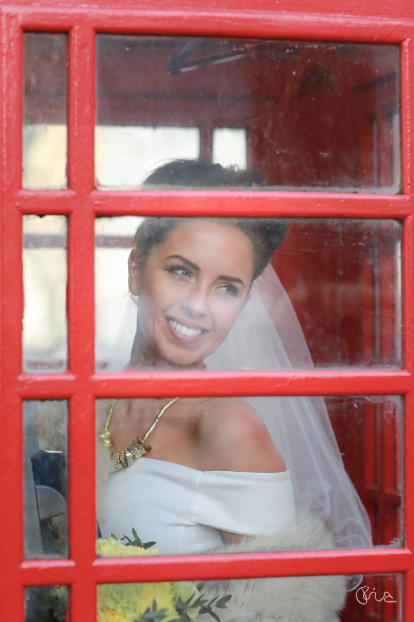 Bride at St George's Church in London