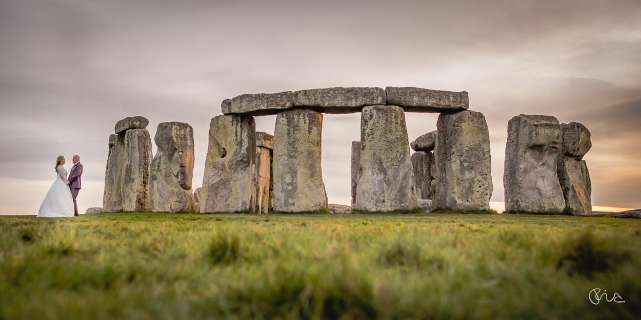 Couple shot at Stonehenge Wedding