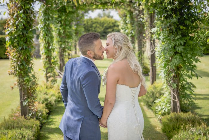 Bride and groom at Cain Manor