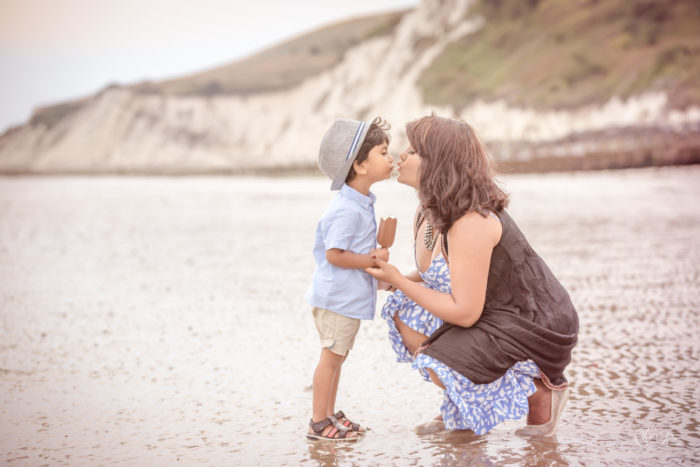 Family shoot on Eastbourne Beach