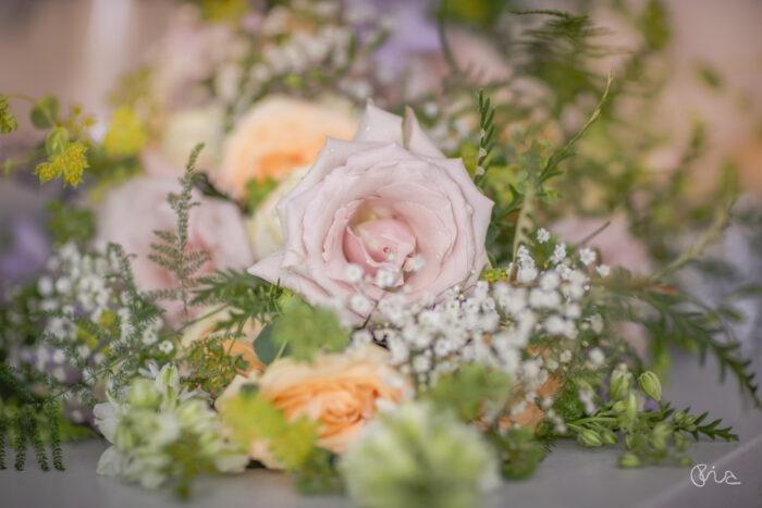 Bridal prep at Funfair wedding in Sussex