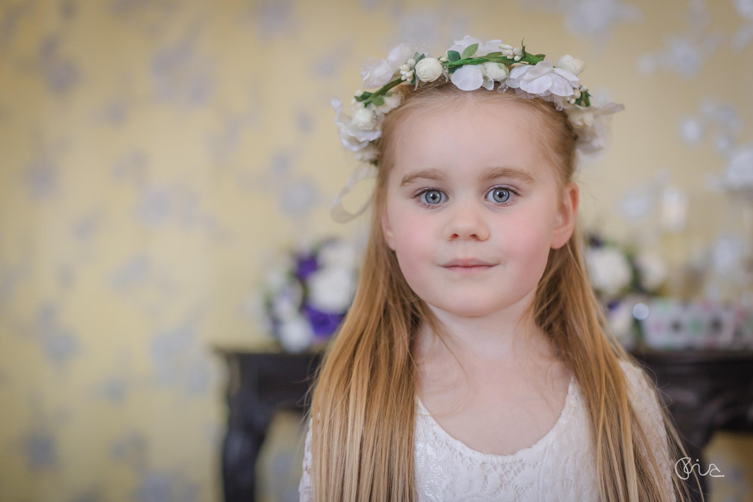 Flower girl at Gildredge Manor wedding