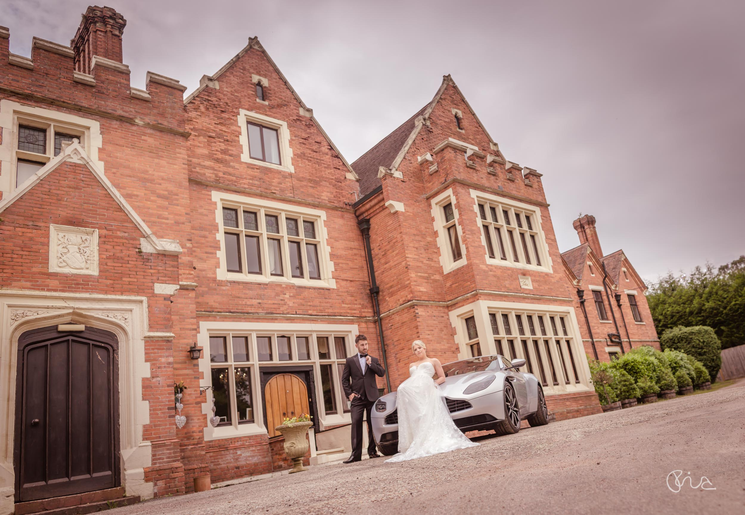 Bride and Groom at Highley Manor weddings