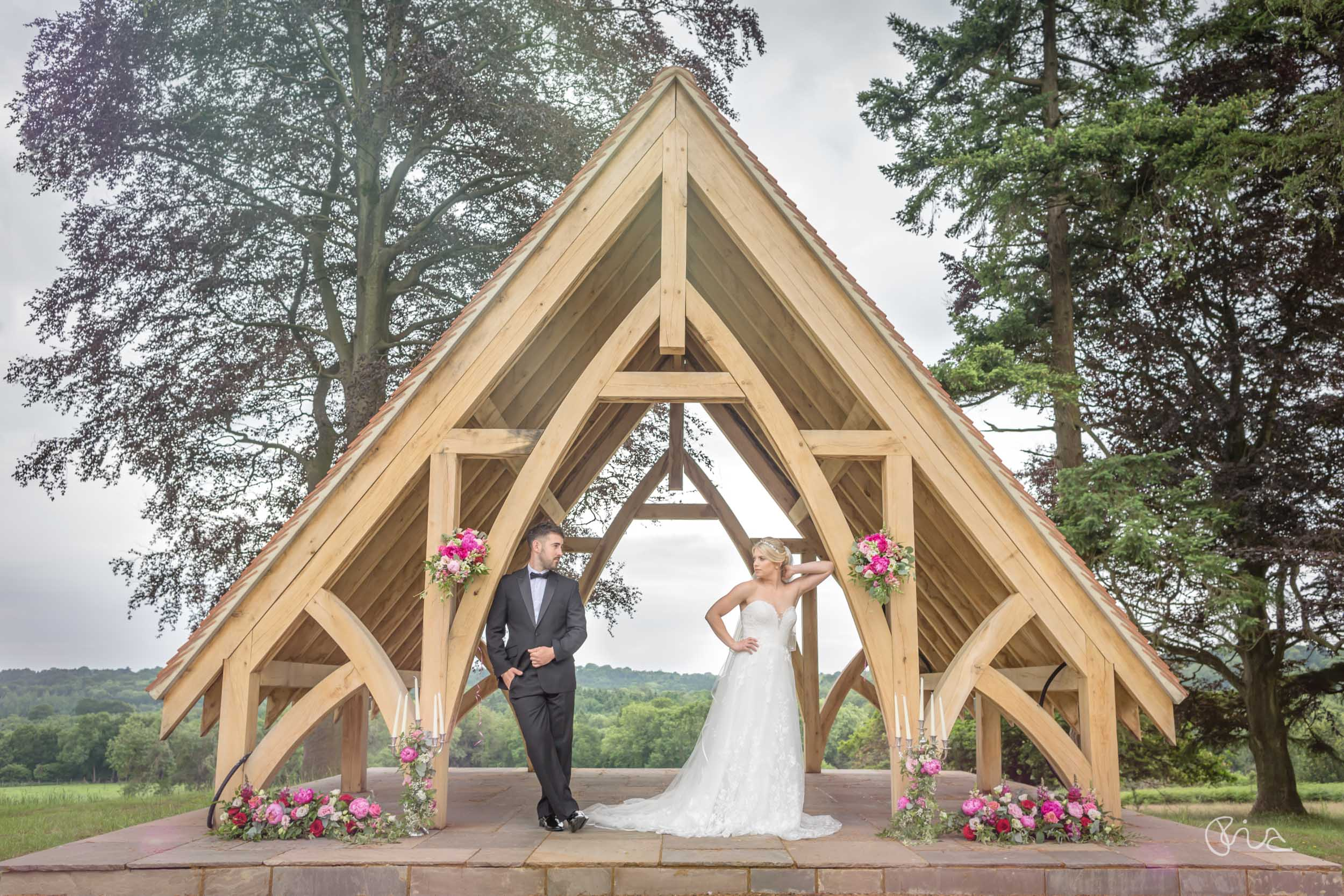 Bride and groom at Highley Manor Wedding