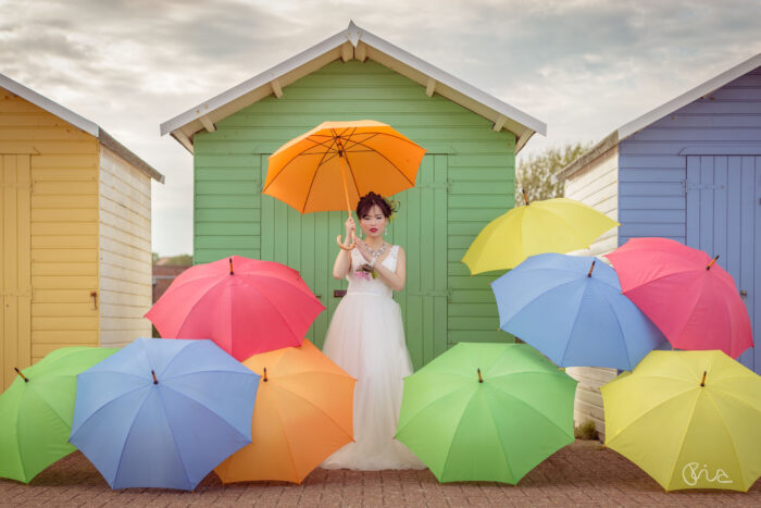 Bridal styled shoots at the Beach Huts in Eastbourne